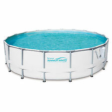 Summer Waves Elite 16' Ft. Metal Frame Above Ground Pool Set w/ SFX1500 Pump