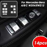 For Mercedes A/B/C W204/EW212 Window Switch Lift Button Chrome Cover