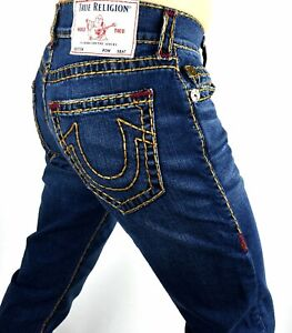 """True Religion Rocco Urban Cowboy Relaxed Skinny Super T Jeans 32"""" Inseam 105202"""