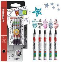 Stabilo FUN / EASY Original Rollerball Pen Refills - 3 Pack + Stickers