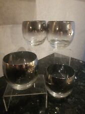 DOROTHY THORPE, ROLY POLY, MAD MEN STYLE GLASSES, SILVER BAND SET OF 4