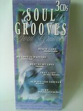 Soul Grooves 3 CD NEW Marvin Gaye Earth Wind&Fire Manhattans O'Jays Bill Withers