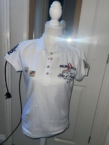 GAASTRA Womens Polo Shirt Size L (12 ) Maybe ?White Cotton 🤩🤩