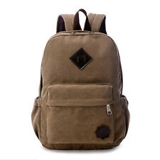 Bag Canvas Men's Vintage Backpack Rucksack Laptop Shoulder Travel Camping Bag