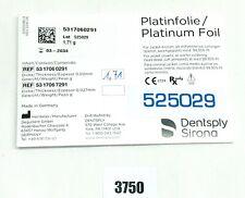 DeguDent Dentsply Sirona Platinfolie 0,02 mm 5317060291 1,71g NEU/OVP