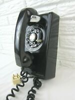 Black Western Electric System 593 Rotary Wall Phone Untested Vintage USA