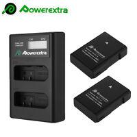 2x 1500mAh EN-EL14a Battery+LCD Charger for Nikon D5500 D5600 D3300 P7000 P7800