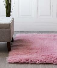 Super Area Rugs Contemporary Handmade Flokati Shag Solid Area Rug in Soft Pink