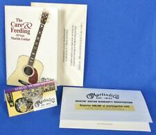 Martin Acoustic Guitar Care and Feeding Owners Manual Case Candy