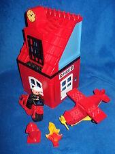 LEGO DUPLO PUPPENHAUS FEUERWEHR HAUS FLUGZEUG MOTORRAD FLAMME FEUERWEHRMANN usw.