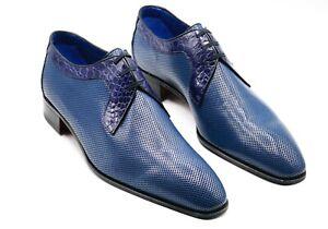 NWT STEFANO RICCI Leather   EAGLE Shoes Eu 42.5 Uk 8.5 Us 9.5 (SR661)