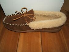 New MINNETONKA Quality Indoor Outdoor Men's Leather Slippers Size 11 NIB