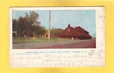 Fargo,ND North Dakota, Northern Pacific Park and Railroad Depot used 1905