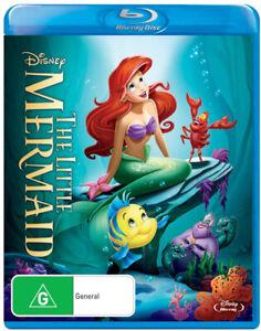 The Little Mermaid (Blu-ray, 2014, Region B) Disney Ariel Flounder NEW & SEALED