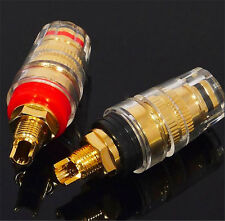 4pcs Gold plated audio Speaker 5mm cable binding post short thread terminals