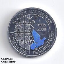 10 Euro Belgien 2008 Maurice Materlink blaue Vogel PP Silber - Belgique Belgium