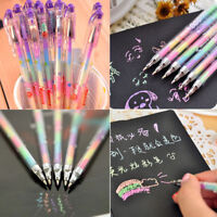 6 Colors in 1 Pen Gel Pens Students Stationery Office Ink Pen Chalk Pen Gift 1Pc