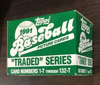 1991 TOPPS TRADED Baseball Factory UNOPEN Set out of case JEFF BAGWELL  f6020115