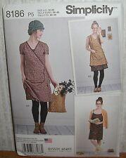 Womens/Misses Slip Dress Wrap Dress Sewing Pattern/Simplicity 8186/SZ 12-20/UCN