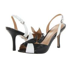 NIB Badgley Mischka Taffy leather sandals slingback pumps heel shoes 7
