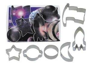 Space Theme Cookie Cutter Set of 6
