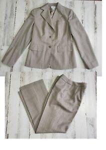 ann taylor loft  2PC,BLAZER,SUIT,Jacket SZ 4 pants Striped wool blend
