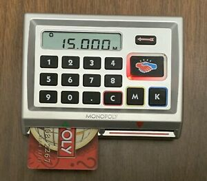MONOPOLY HERE & NOW WORLD EDITION - electronic banking unit & 3 credit cards-EUC