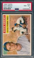 1956 Topps Set Break # 24 Dick Groat Gray Back PSA 8 NM-MINT *OBGcards*