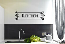 Kitchen Vintage Schild Framed Vinilo Pegatinas De Pared Adhesivo Decoración