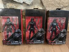 Three Star Wars The Black Series Imperial Death Trooper 6 inch action figures