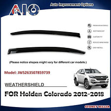 AD WEATHERSHIELD WINDOW VISOR WEATHER SHIELD FOR HOLDEN Colorado 2012-2018 2pcs