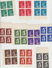 Croatia NDH red cross imperforated block of four 1943 MNH **