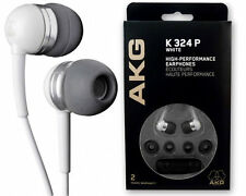 AKG K324 P In-Ear Earbuds Earphones Headphones 12X chrome and 8X White