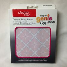 New Diaper Genie Expressions Fabric Sleeve Pink Starburst Playtex Baby
