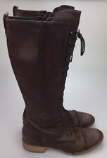 Charles David 'Registry' Knee High Lace Up Riding Granny Boots Women's Size 5.5