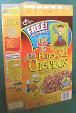 Honey Nuts Cheerios Cereal Box with Toy Story 2 Woody Figurine Dangler Attached