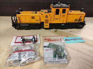 LGB 2067 - Schienenreingungslok + LGB 67403 Kugellager-Radsatz
