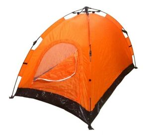 Instant Automatic Pop Up Backpacking Camping Hiking 2 Man Tent Orange Sealed NEW