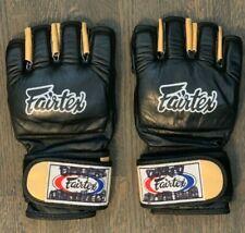 Fairtex XL Ultimate Combat MMA Open Thumb Gloves Black Professional Amateur Spar