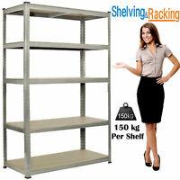 5 Tier Heavy Duty Boltless Metal Shelving Shelves Storage Unit Racking Garage UK