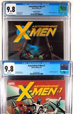 Astonishing X-Men 1 - 2 Slab Set With Keown Variant CGC 9.8 Comic NM/ Mint Lot