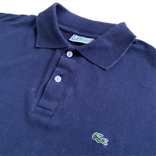Vintage LACOSTE Polo Shirt | Size 6 (XL) | Navy Blue Classic Short Sleeve