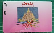 Conte Pastels-24 pc - New Crayons - Pencil Set - Factory Sealed in Vtg Tin Box