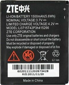 OEM Battery LI3715T42P3H415266 1500mAh For ZTE Avail Z990 N990 N760 N780 V881