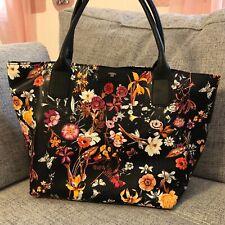 Tom Tailor Tasche Handtasche schwarz mit Blumen