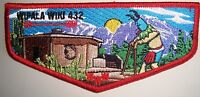WIPALA WIKI OA 432 GRAND CANYON COUNCIL PATCH LODGE CHIEF APPRECIATION FLAP RARE
