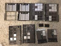 Set of 8 vintage ibm 5110 portable computing system Module boards