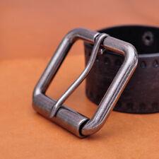 """2"""" (51mm) Mens Roller Belt Buckle Heel Bar Leather Belt Buckles Antique Silver"""