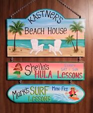 Large Personalized Beach Pool Lagoon Home Oasis Sign Hand Painted Camping