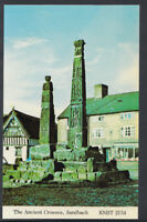Cheshire Postcard - The Ancient Crosses, Sandbach    T215